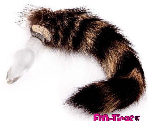 Tapón anal con forma de cola de zorro